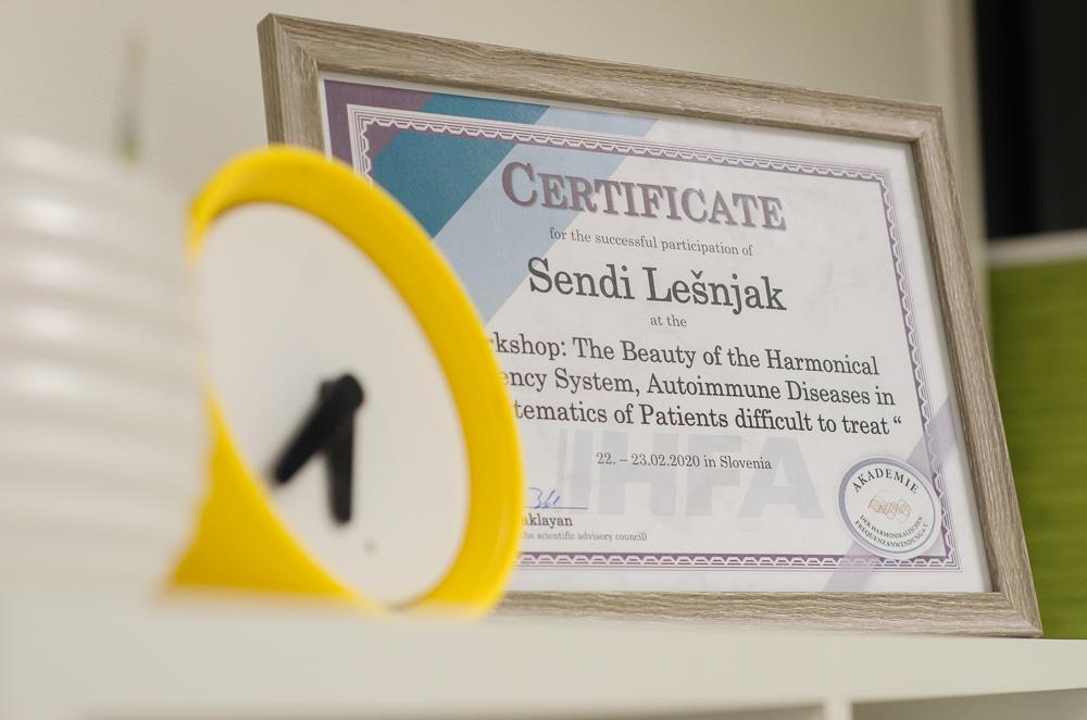 certifikati bioresonanca sendi lešnjak