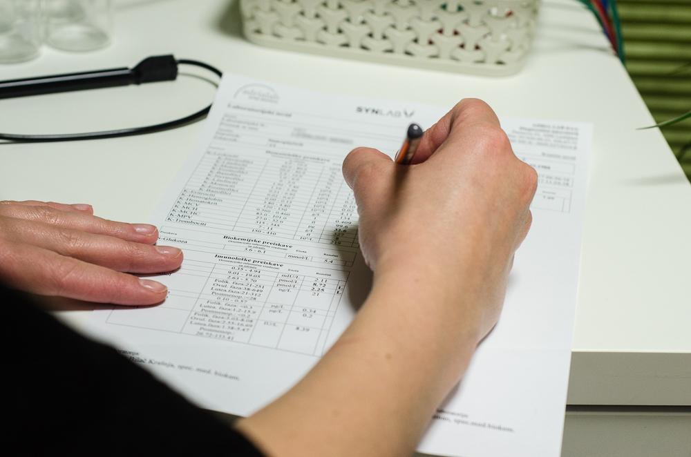 ovrednotenje laboratorijskih testov